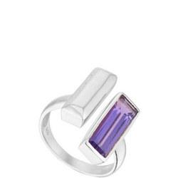 Manhattan Bar Ring with Amethyst