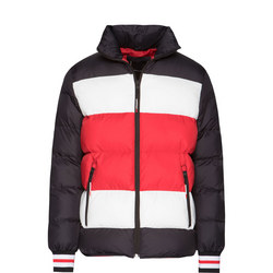 Stripe Quilted Bomber Jacket
