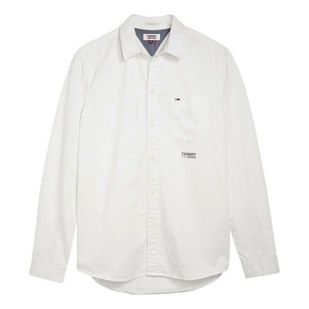 Solid Twill White Shirt