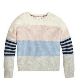 Fluffy Colourblock Sweater