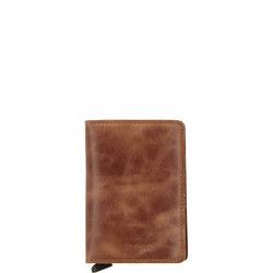 Vintage Cognac Slim Wallet