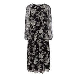 Silken Bamboo Print Dress
