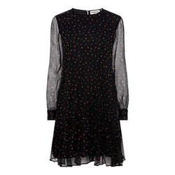 Flared Hem Polkadot Dress