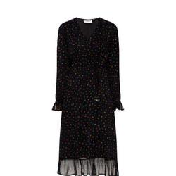 Flared Polka Dot Dress