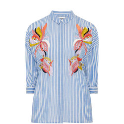 Striped Embroidered Shirt