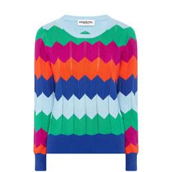 Zig Zag Crew Neck Sweater