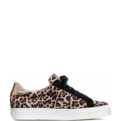 Leopard Print Lace-Up Trainers