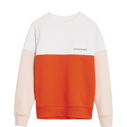 Kids Colour Block Sweat Top