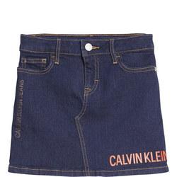 Girls Logo Denim Skirt