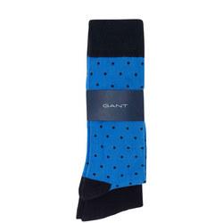Two-Pack Plain Dot Socks