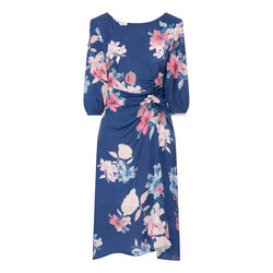 Cropped Sleeve Floral Dress