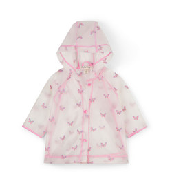 Butterfly Print Clear Raincoat