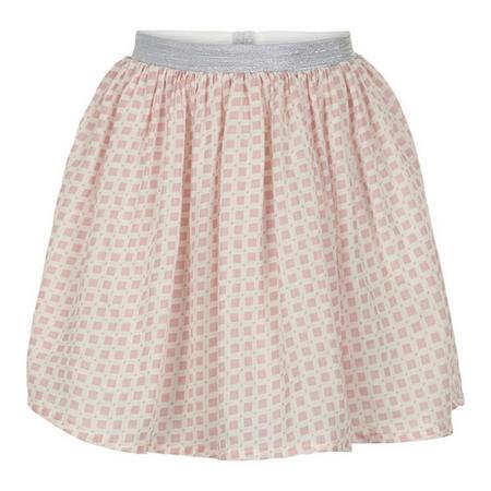 Square Print Skirt