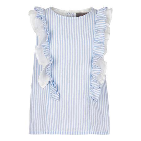 Stripe Frilled Blouse
