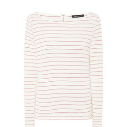 Stripe Cuff Sleeve T-Shirt