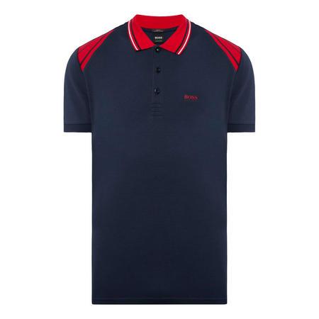 Paule Striped Shoulder Slim Polo Shirt
