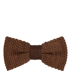 Ribbed Knit Bow Tie