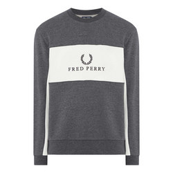 Panel Logo Crew Neck Sweat Top