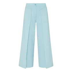 Wide Fit Cropped Trousers