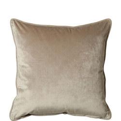 Belini Velour Cushion Taupe  45 x 45cm