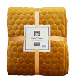 Halo Bedspread Antique Gold