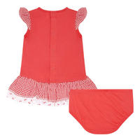 Cherry Print Dress And Bloomers Set Baby
