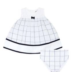 Check Dress And Bloomers Set Baby