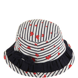 Heart And Stripe Print Hat Baby