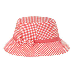 Gingham Bow Bucket Hat