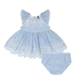Floral Stripe Dress And Bloomers Set Baby