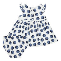 Two-Piece Spotted Dress and Bloomers Set