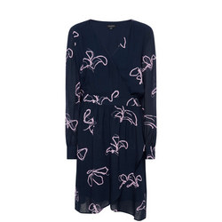 Printed Long-Sleeved Dress