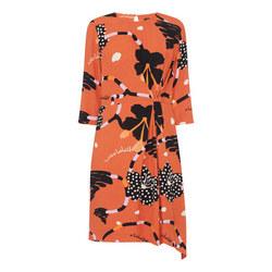 Kiara Print Cropped Sleeve Dress