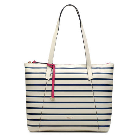 Wood Street Stripe Large Zip-Top Shoulder Bag