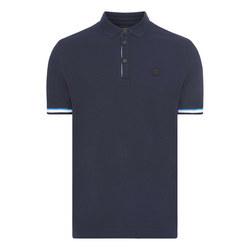 Printed Tape Sleeve Polo Shirt