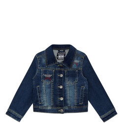 Star Motif Denim Jacket Kids
