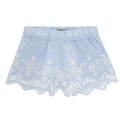 Broderie Anglaise Striped Shorts