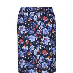 Flower Print Midi Skirt