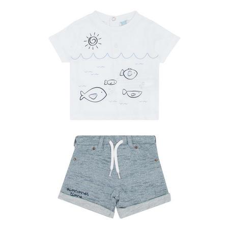 Fish Shorts And T-Shirt Set