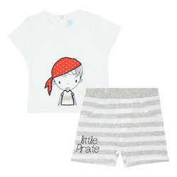Two-Piece Pirate Shark T-Shirt and Shorts Set