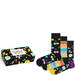 Three-Pack Happy Birthday Singing Sock Set