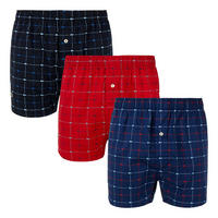 Three-Pack Logo Pattern Cotton Boxers