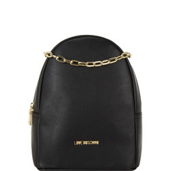 Chain Leather Backpack