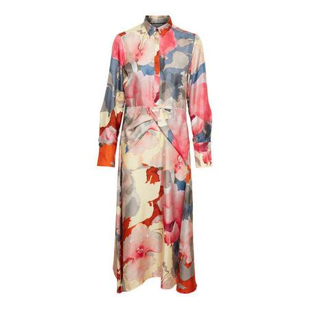 Hepburn Print Midi Dress