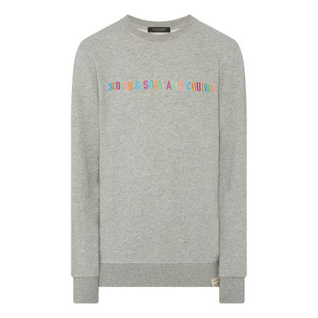 Graphic Crew Neck Sweat Top