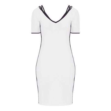 Piped Trim Midi Dress