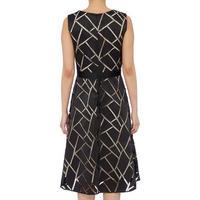 Geometric Overlay Dress