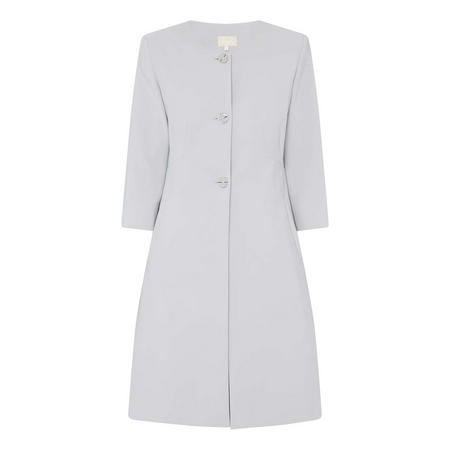 Collarless A-Line Coat