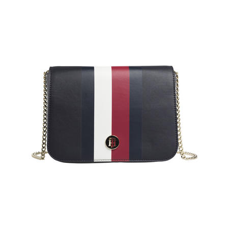 Striped Monogram Crossbody Bag