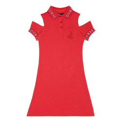 Tape Logo Polo Dress